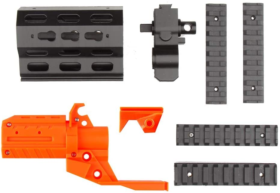 WORKER No.174 XCR-L Short Front Tube Kit (with 5 Picatinny Rial) for Nerf Stryfe