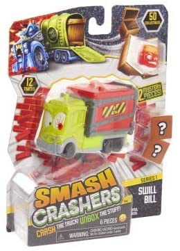 Smash Crashers Swill Bill - Crash The Truck! UNbox The Stuff! 1 Truck, 2 Crates, 3 Collectibles
