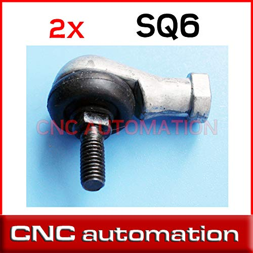 Ochoos 2pcs SQ6RS SQ6 RS 6mm Ball Joint Right Hand Tie Rod Ends Bearing