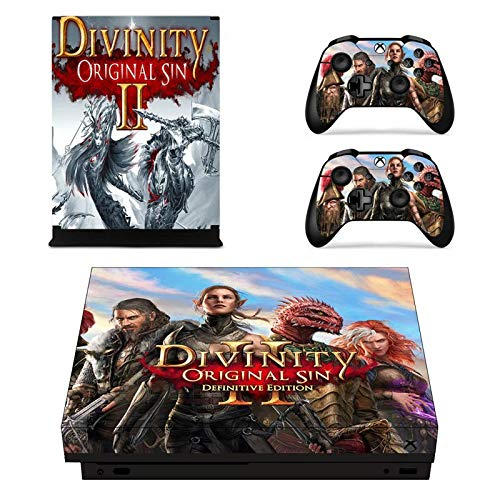 Xbox One X Skin Set - Divinity HD Printing Skin Cover Protective for Xbox One X Console & 2 Controller by Mr Wonderful Skin