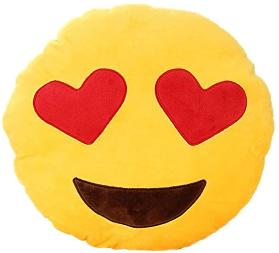 Leegoal Emoji Smiley Emoticon Yellow Round Cushion Pillow Stuffed Plush Soft Toy