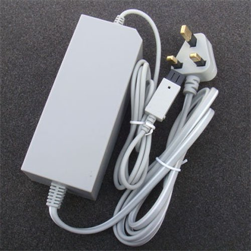 OSTENT UK Type AC Wall Adapter Power Supply Replacement Compatible for Nintendo Wii Console Video Game
