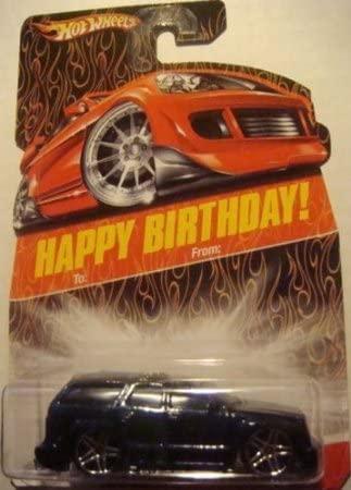 Hot Wheels Exclusive Happy Birthday Card Cadillac Escalade Dark Glitter Midnight Blue Pr5 wheels 1/64 2008