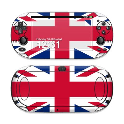 Union Jack Design Protective Decal Skin Sticker (High Gloss Coating) for Sony Playstation PS Vita Handheld