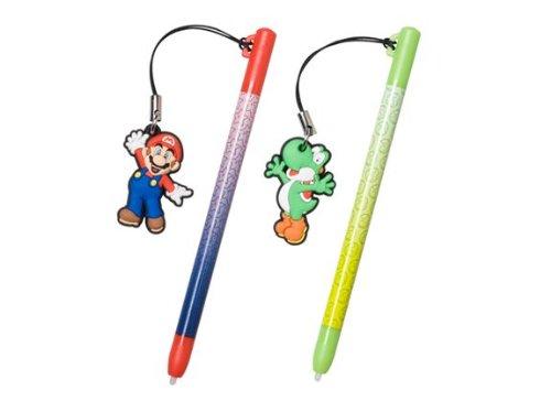 Nintendo DS Stylus Pen Charm Set Mario / Yoshi