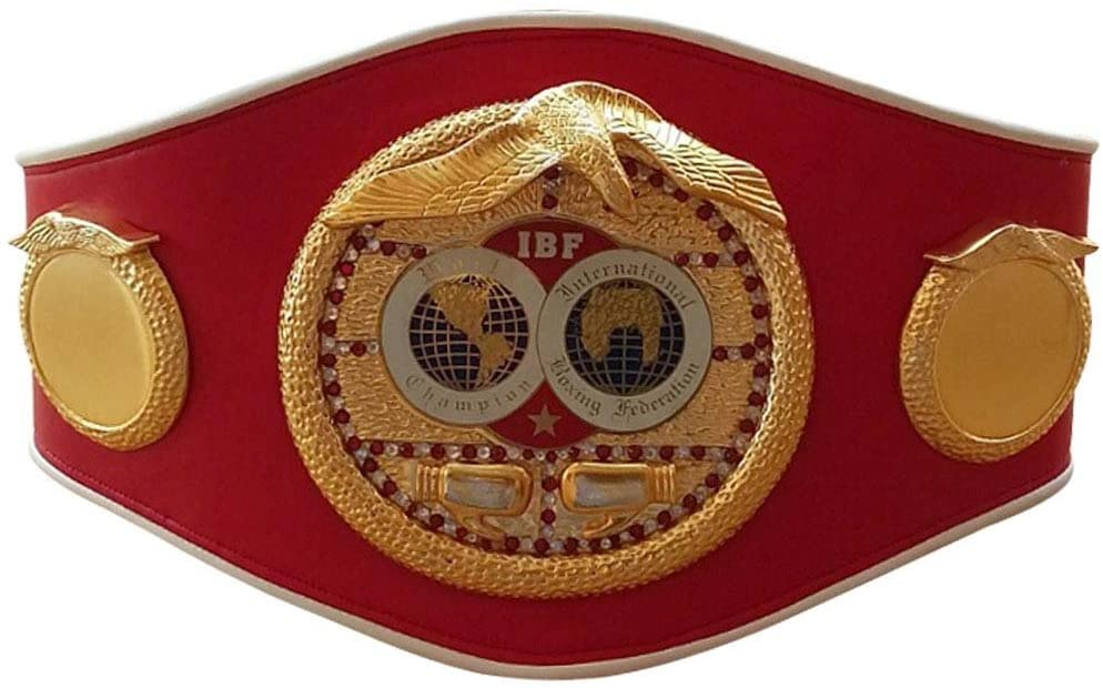 IBF Boxing Championship Belt Replica International Boxing Federation Adult