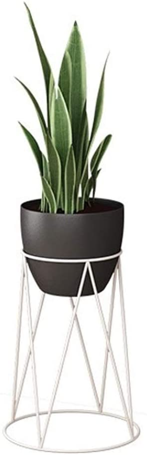 KMMK Plant Stand,Flower Stand Wrought Iron Flower Stand, Indoor Floor-Standing Plant Pot Rack Living Room Balcony Potted Display Stand, and 3 Sizes Shelf,B,21X21X40Cm