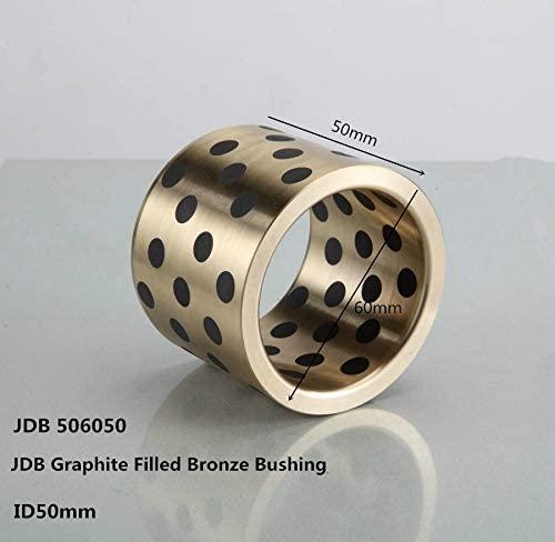 Ochoos JDB506050 Oil Free Graphite Filled Copper Sleeve,Graphite oilite Bearing, Bronze Solid Enchase Graphite Bearing