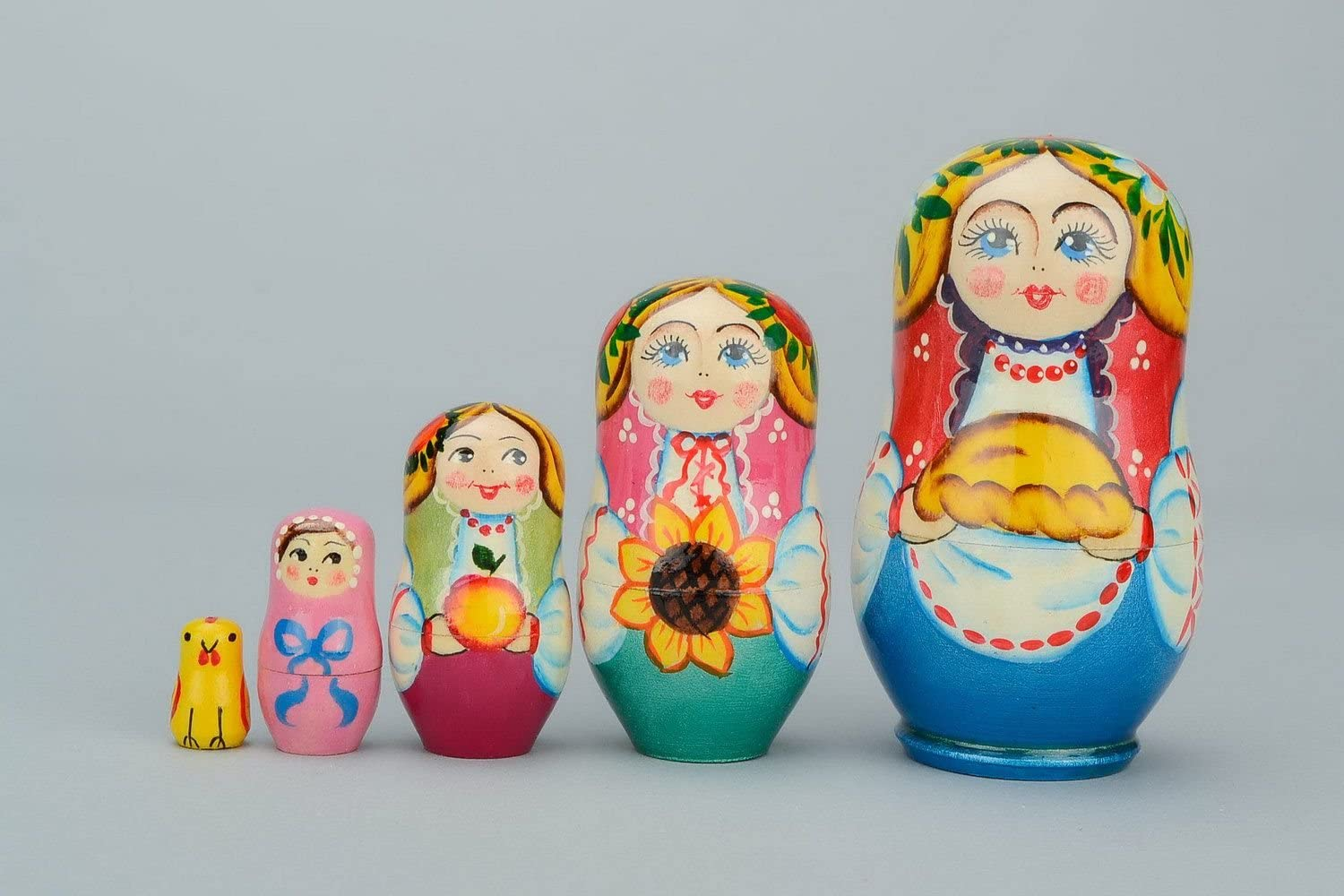 Wooden Matryoshka Doll With Loaf
