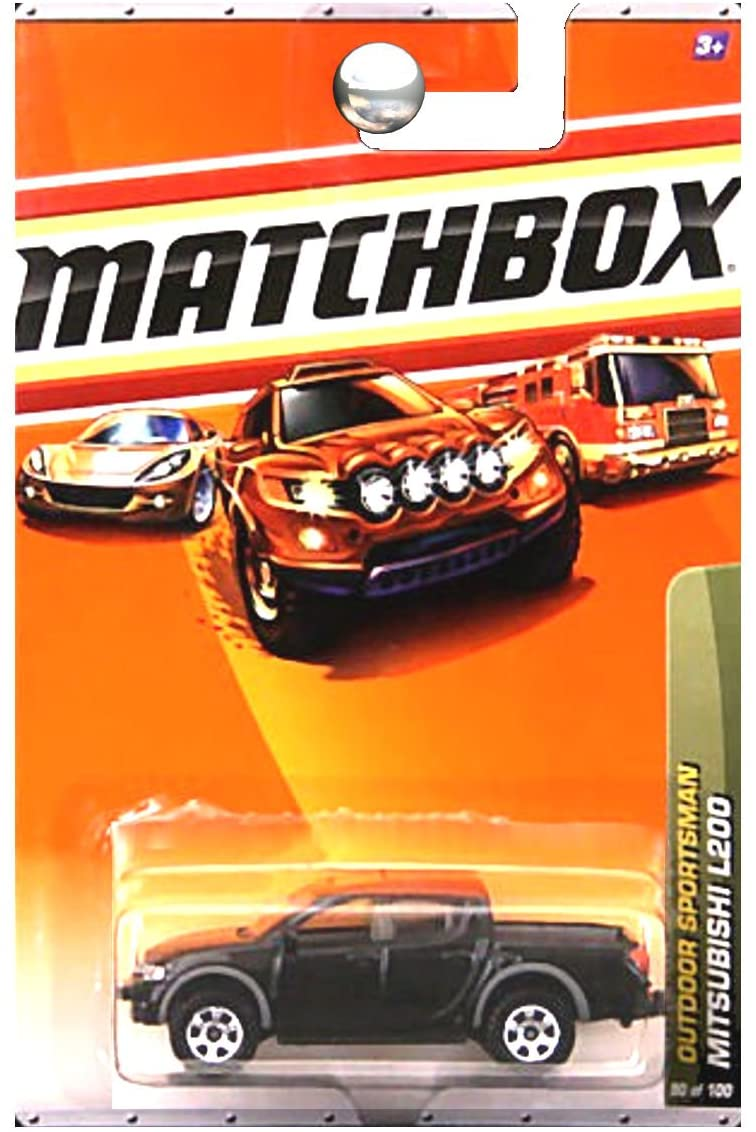 Matchbox 2010 Outdoor Sportsman Mitsubishi L200 Pickup Truck in Black