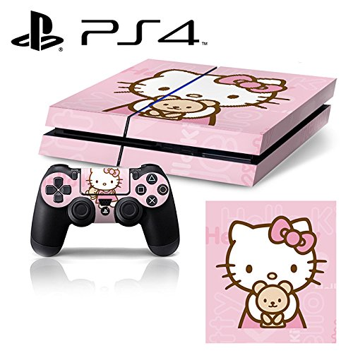 Ci-Yu-Online VINYL SKIN [PS4] - Hello kitty #2 - Whole Body STICKER DECAL COVER for PS4 Playstation 4 System Console and Controllers