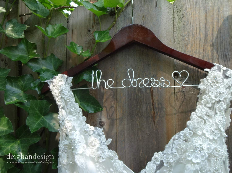 Flowershave357 Wedding Dress Hanger Bride Hanger Last Name Hanger Mrs Hanger Wedding Hanger Personalized Hanger Bridal Shower Gift Bridesmaid Gifts