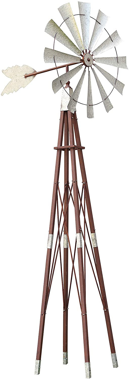 Alpine Corporation JUM264 Garden Metal Kinetic Windmill, 101 Inch Tall, Multi-Color