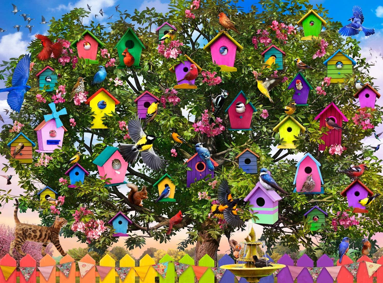 Buffalo Games - Bird Hotel - 1000 Piece Jigsaw Puzzle, Multi