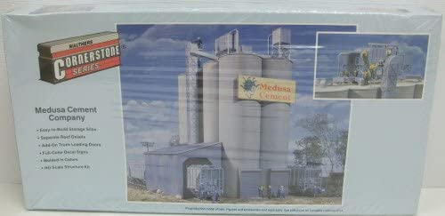 Walthers Cornerstone HO Scale Building/Structure Kit Medusa Cement Company