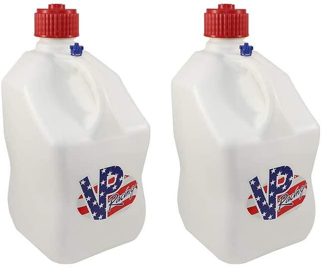 VP Racing Fuels 5 Gallon Square Motorsport Utility Container Patriotic (2 Pack)