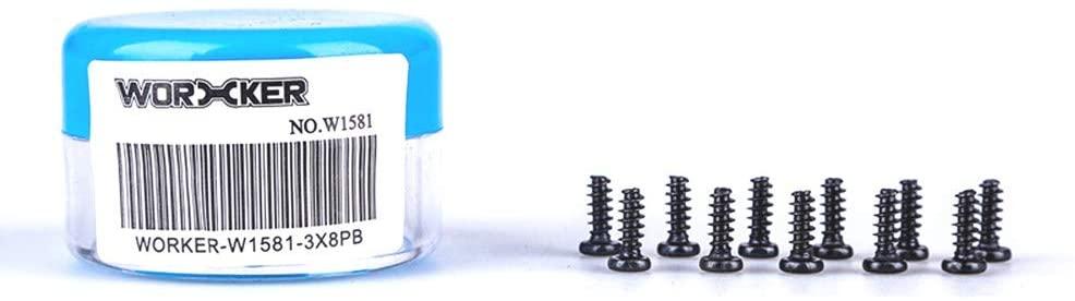 WORKER 10PCS PB 3x8mm Spare Screws Accessories for Nerf N-Strike Elite Toy