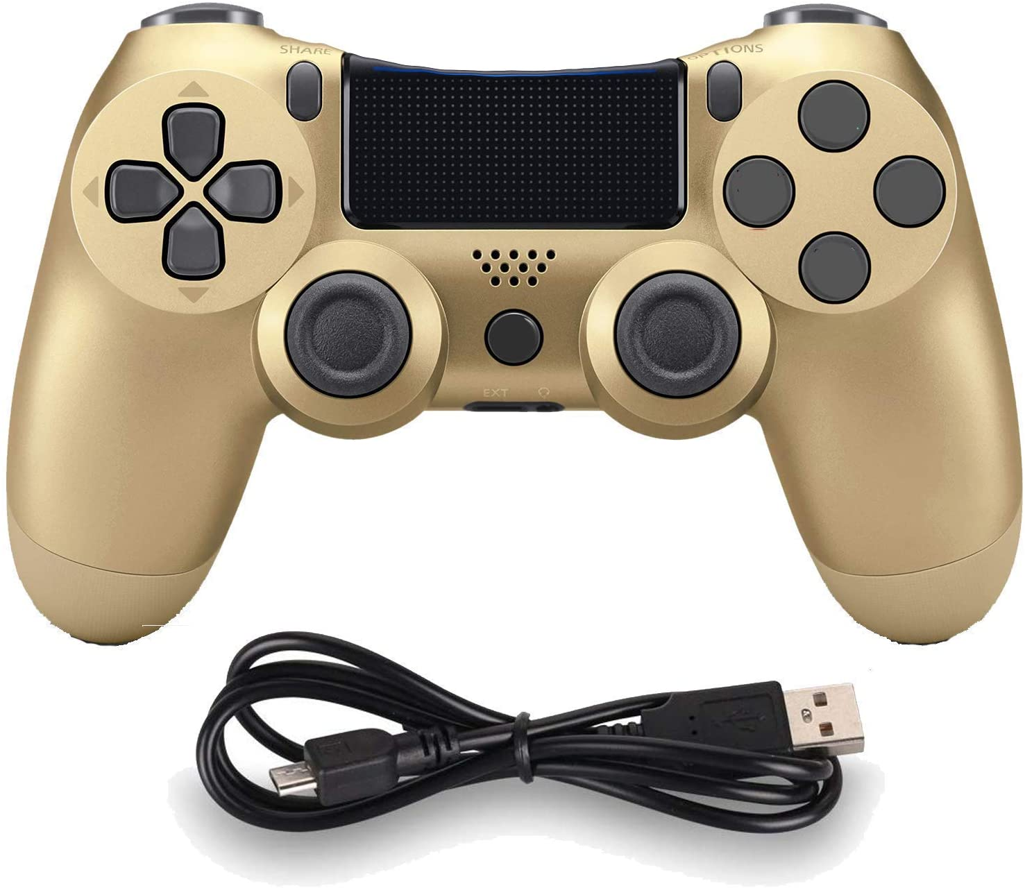 Wireless Controllers for PS4 Playstation 4 Dual Shock Six-axis,Bluetooth Remote Gaming Gamepad Joystick (Gold)