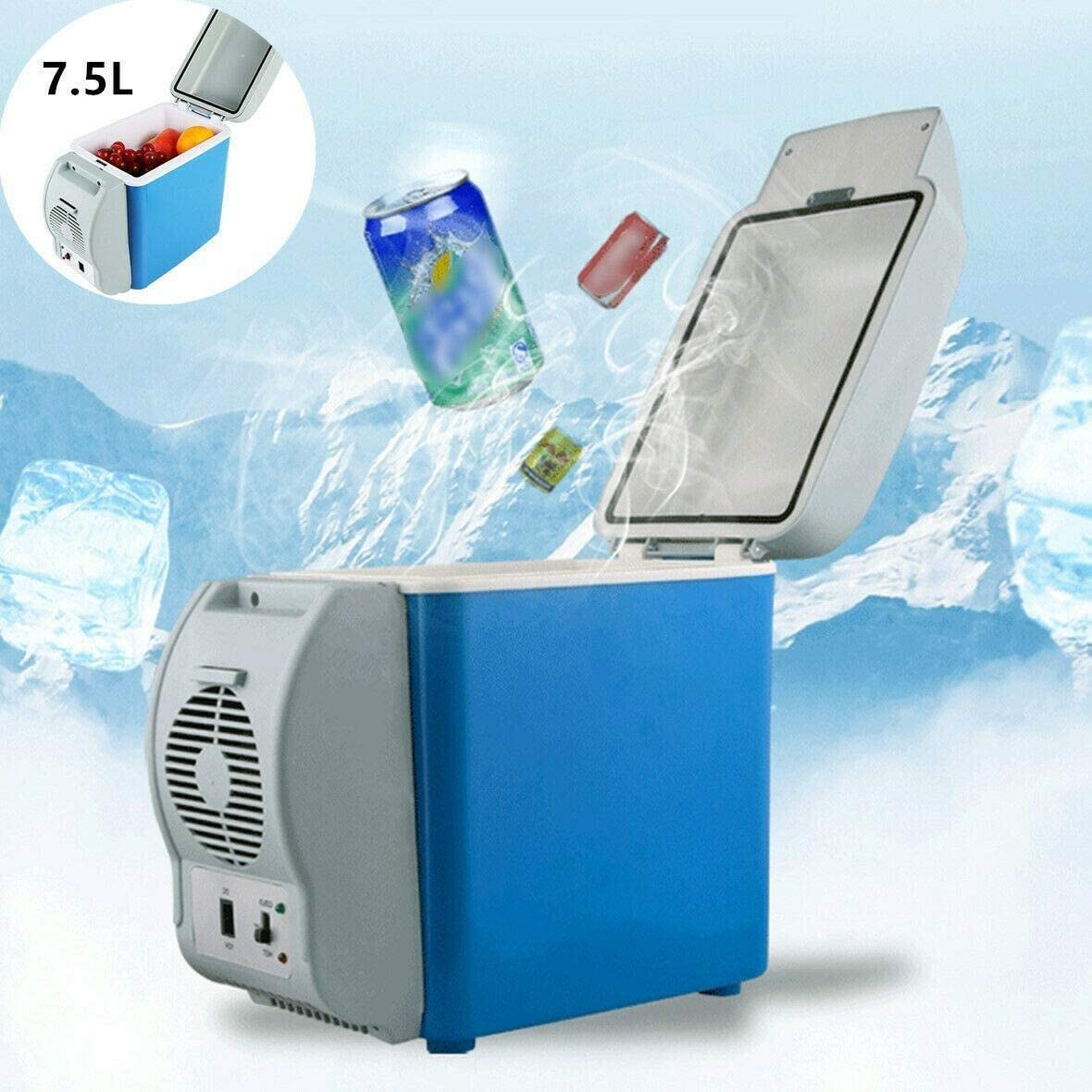 JIEJIEZ Car Refrigerator, Mini Portable Compact Cooling and Heating Freezer Heat Sink Suitable for Homes, Offices, Cars, Dormitories Or Boats - Compact