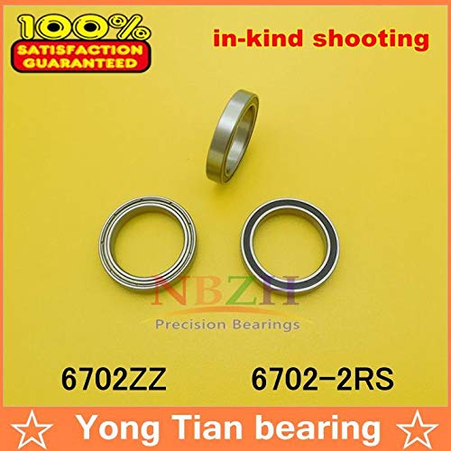 Ochoos The of Ultra-Thin Stainless Steel Bearing S6702 S6702RS SS6702 2RS S6702ZZ 15214 mm 440C Material - (Length: S6702-2RS, Diameter: ABEC-3)