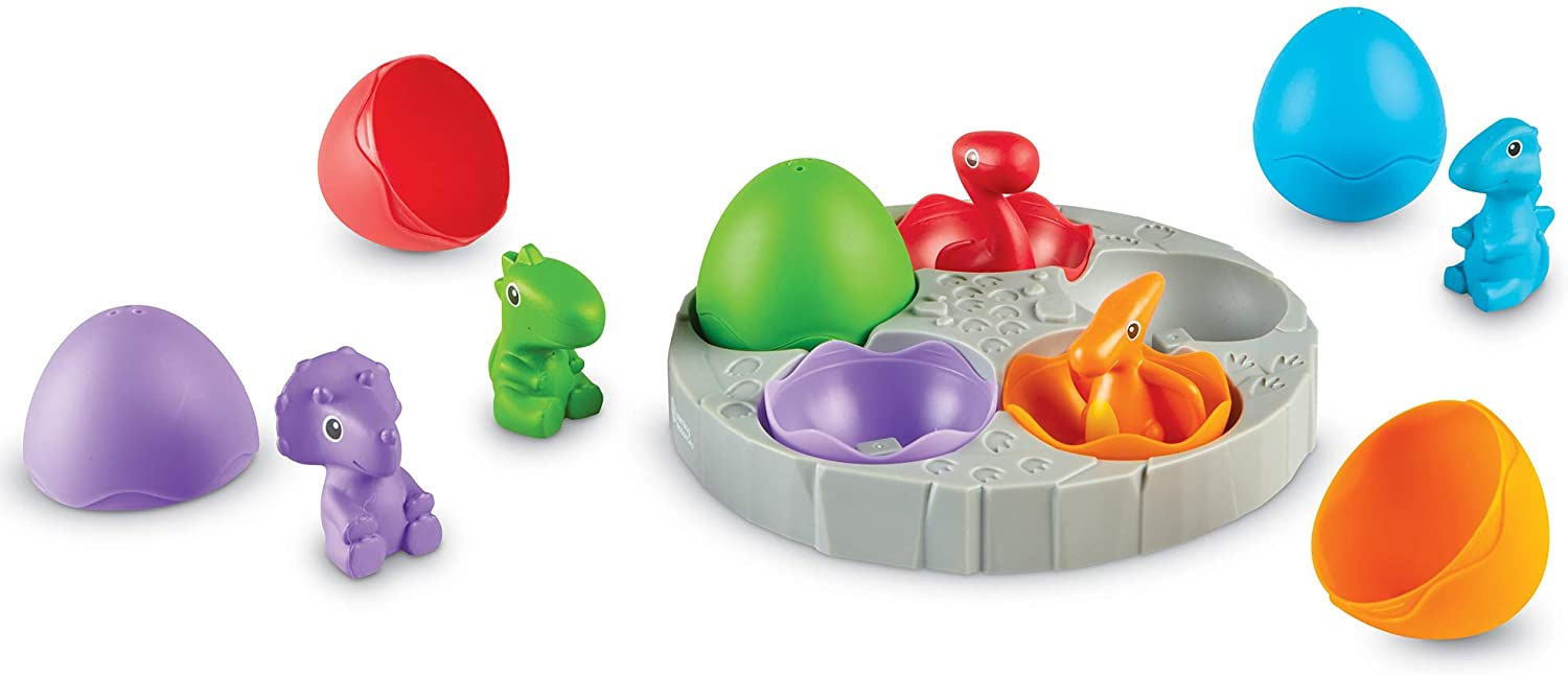 Learning Resources Babysaurs Sorting Set, Dino Toy, Counting & Sorting Toy, Ages 18 mos+