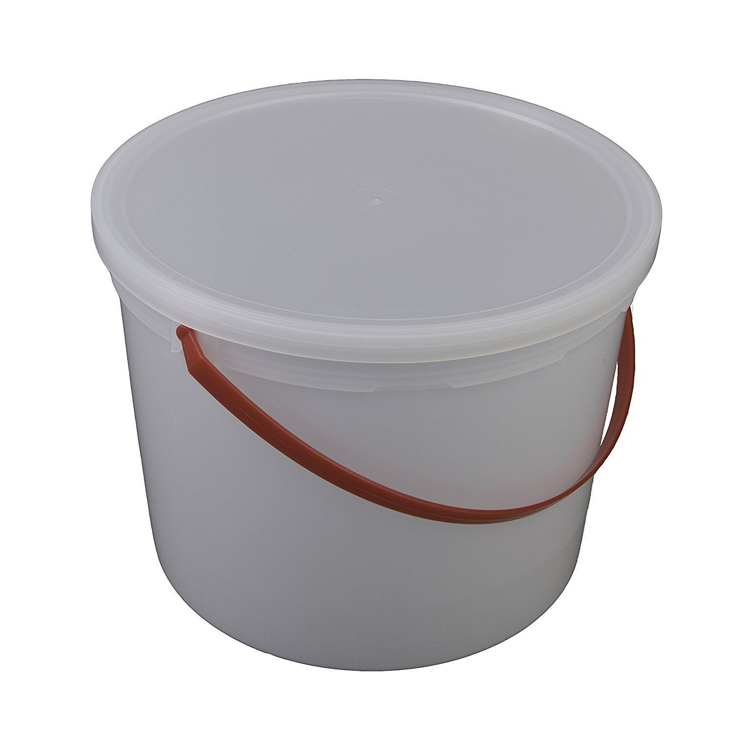 Consolidated Plastics Pail with Handle, HDPE, 5 Quart, Natural, 10 Piece