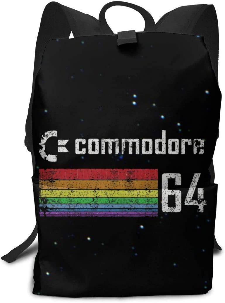 Sherrygeoffrey Commodore 64 Student Shoulder Bookbag Backpack Laptop Bag