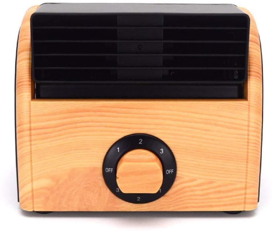 NDFSE-cool fan Wooden Three-Speed Adjustable Desktop Fan Mini-Fan Without Fan Blade Silent Portable Fan,A