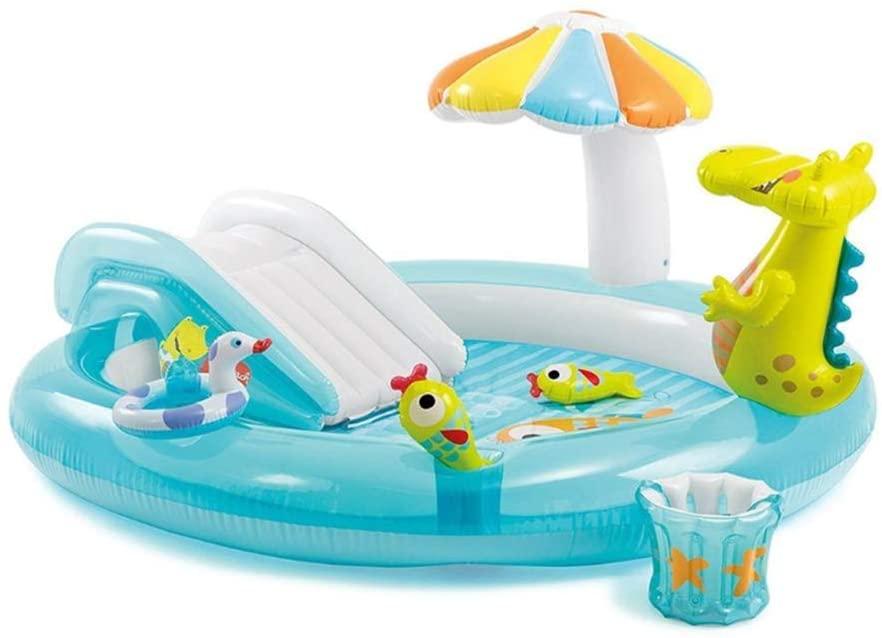 Gator Play Center Inflatable Kiddie Spray Wading Swimming Pool Baby Outdoor Water Play Sprinklers Sand Pool Marine Ball Pool