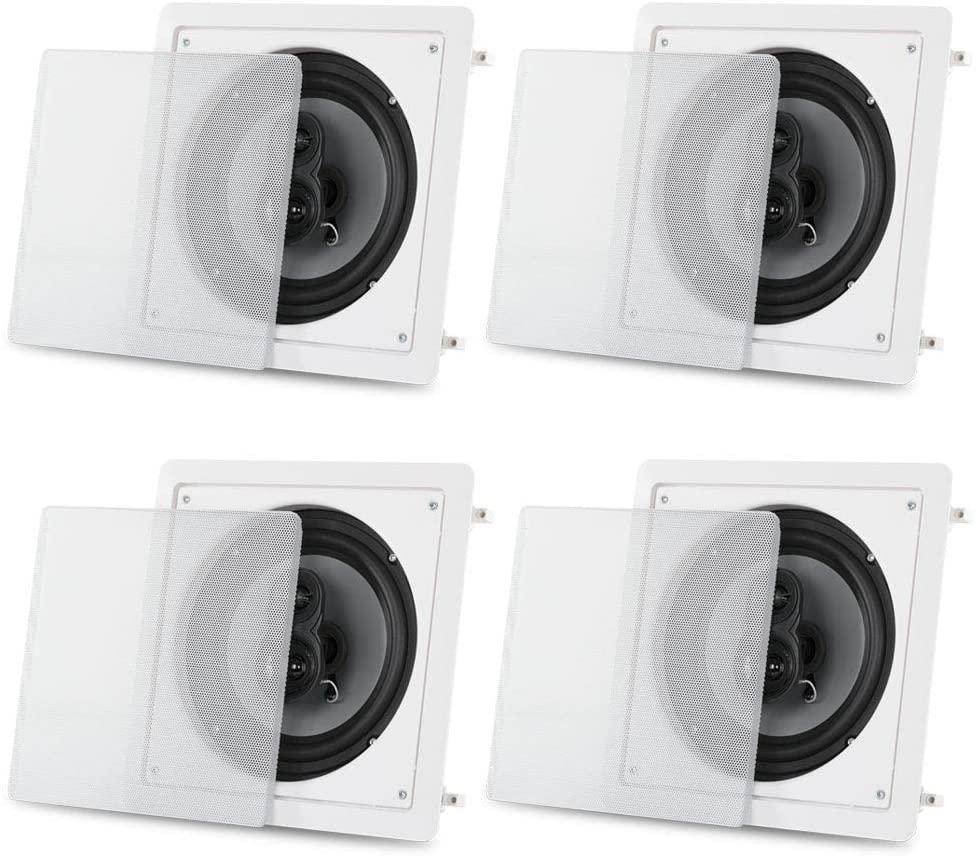 Acoustic Audio CS-I83S-2PR 300 Watt 8 3-Way Home Theater in-Wall/Ceiling Speakers (2-Pair)