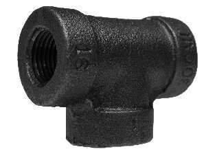 Midland Metal 68256 Iron 1-1/4 300# Galv Tee (Pack Of 10)
