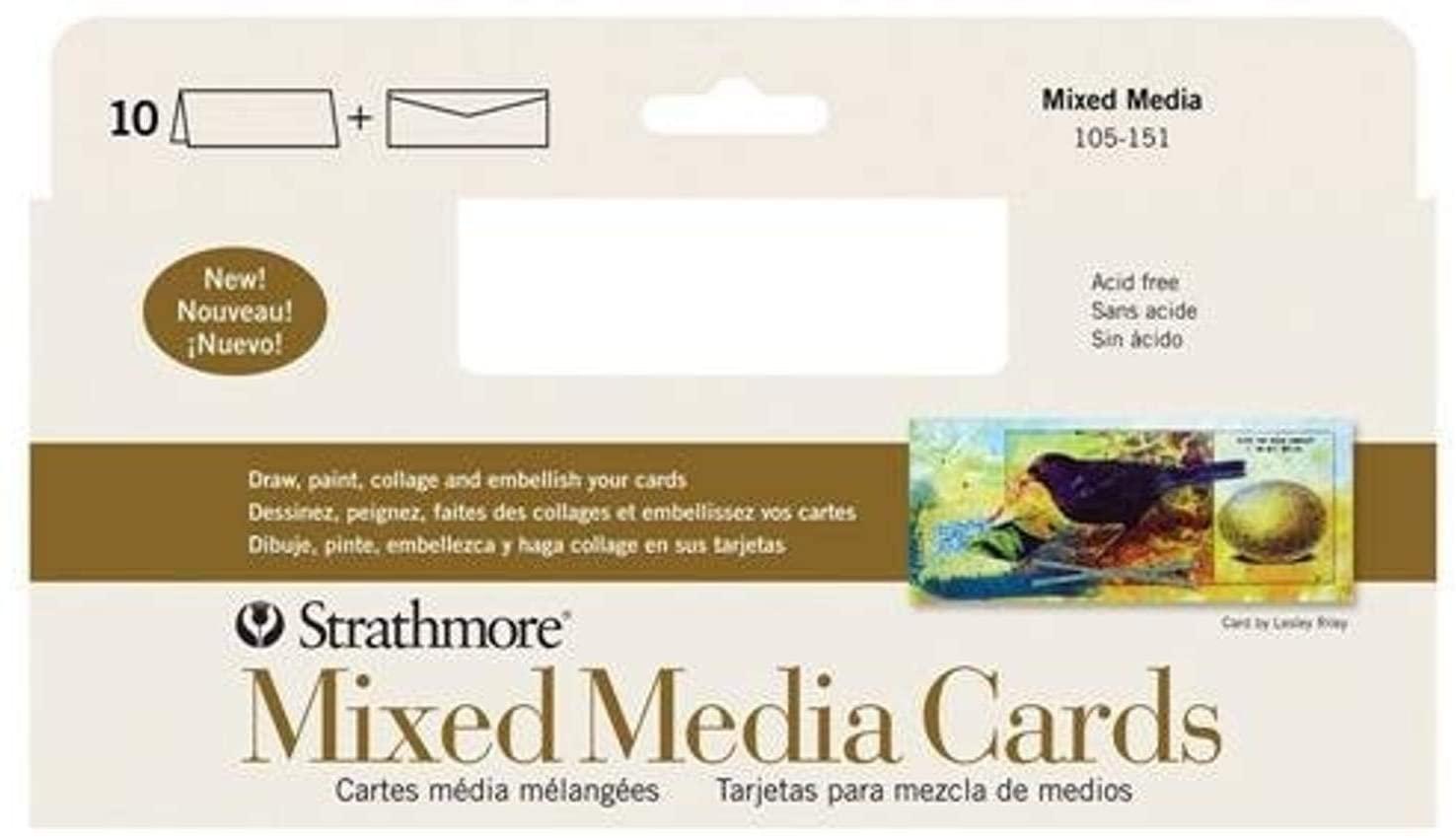 Strathmore 105-151-1 Mixed Media Slim Cards, 10 Cards & Envelopes