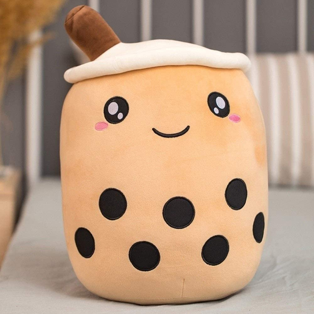 WNSS9 1pc Real-Life Bubble Tea Cup Plush Toy Pillow Stuffed Food Milk Tea Soft Doll Milk Tea Cup Pillow Cushion Kids Toys Birthday Gift Children Appease PP Cotton Cushion ( Color : C , Size : 35cm )