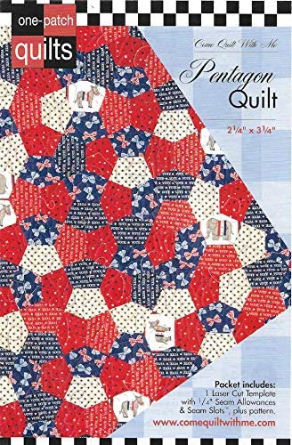Come Quilt with Me Template - Pentagon Quilt 2 1/4
