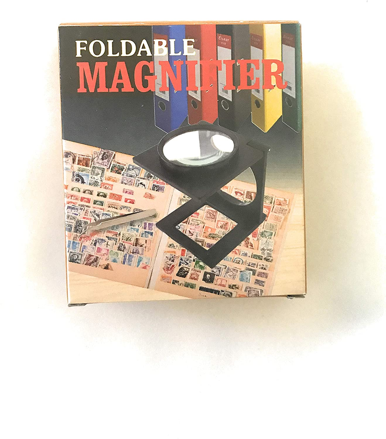 Folding Magnifier,10X Min Foldable Magnifier Loupe with Scale for Textile Optical Jewelry Sewing Thread Collection Repair