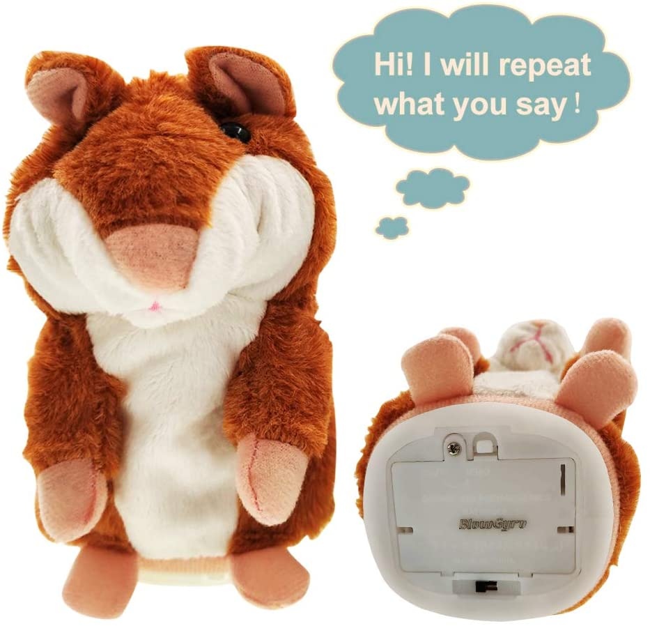 BlowGyro Talking Hamster, Repeat What You say, Interactive Plush Toys, Hamster Toys, Suitable for Children of All Ages