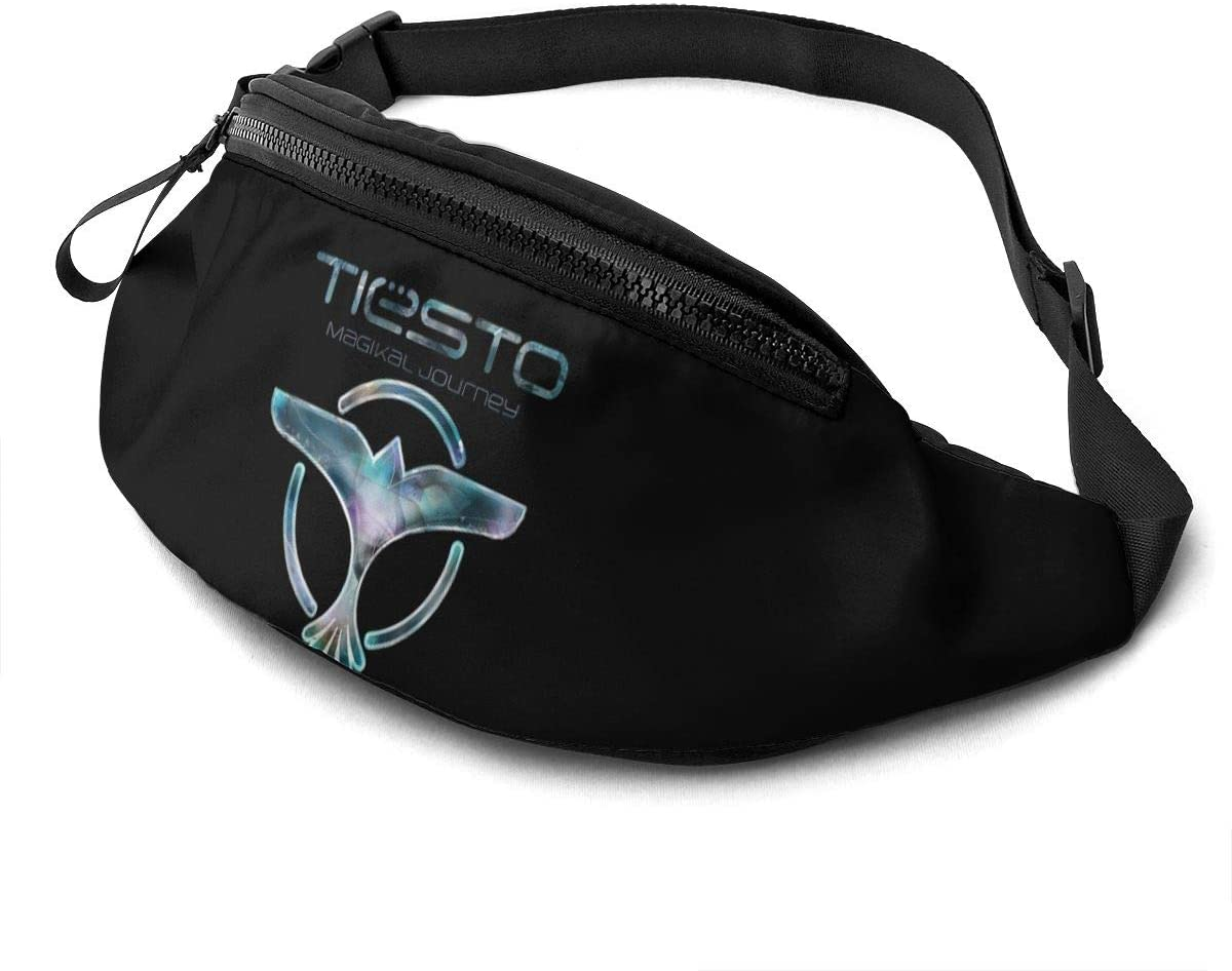 Qwtykeertyi Tiesto Unisex Fanny Packs for Outdoors Sport Workout Traveling Casual Running Hiking Cycling Gym with Adjustable Strap