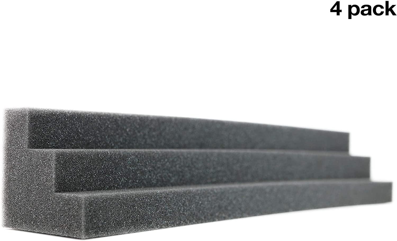 New Level Column Acoustic Wedge Studio Foam Corner Block Finish Corner Wall in Studios or Home Theater (4 Pack)