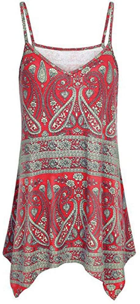 Adeliber Red Blouse Women's Casual Short Sleeve Loose Blouse High Low Hem Ruffle Peplum Tops T Shirts