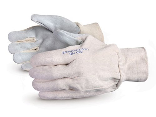 Superior 650HB HB Series Clute-Pattern Leatherface Glove with Knit Wrist, Work (Pack of 1 Dozen)