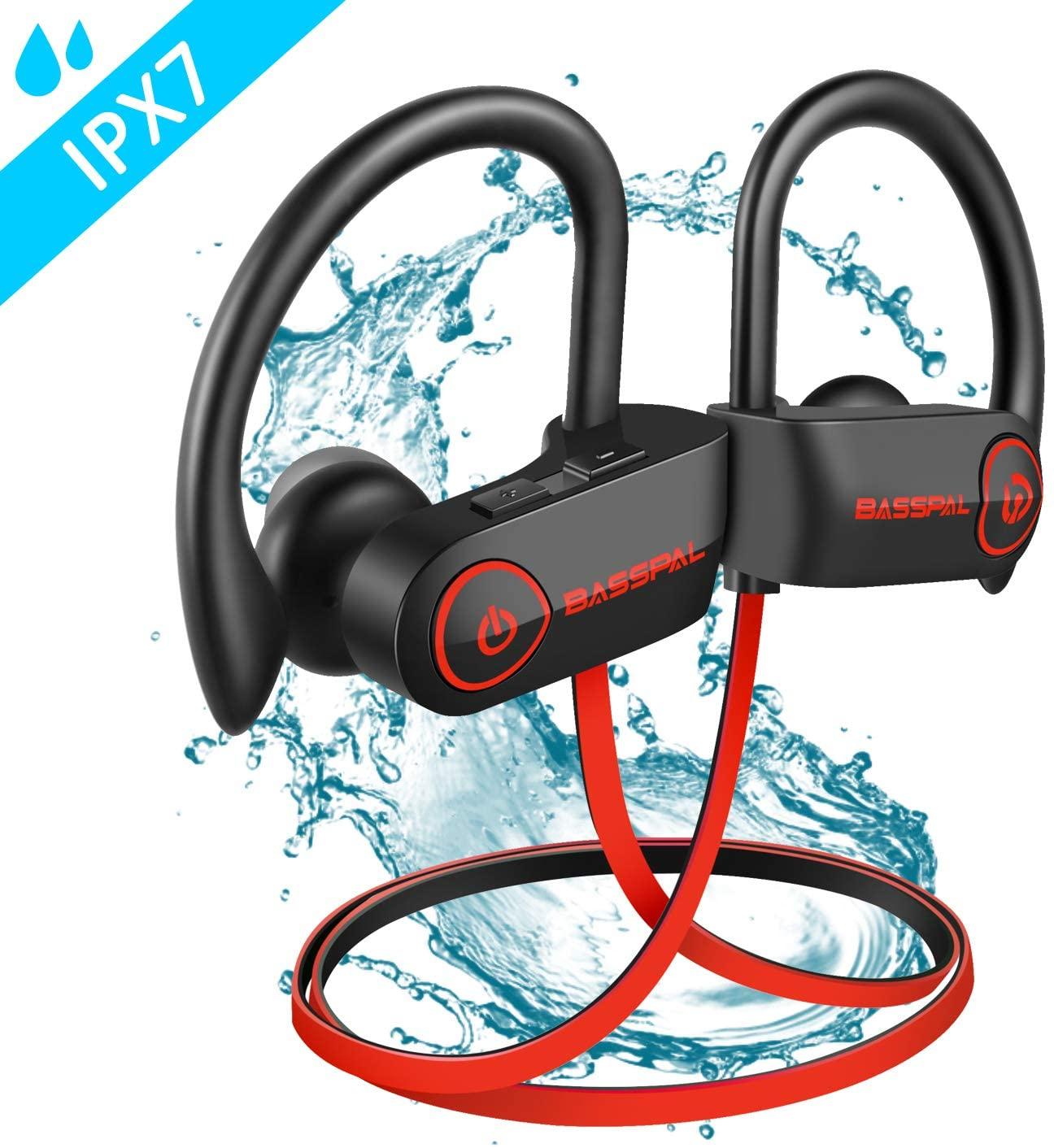 Bluetooth Headphones, BassPal TonePro U14 Wireless Sport Earphones Waterproof IPX7, w/Mic Richer Bass HD Stereo Sweatproof In Ear Earbuds for Gym Running Workout 9 Hrs Battery Noise Cancelling Headset