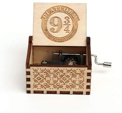 Duoer Musical Boxes Music Boxes Antique Carved Wooden Hand-cranked Music Box Music Birthday Gift Party for Game of Throne Musical Boxes & Figurines (Color : 3)
