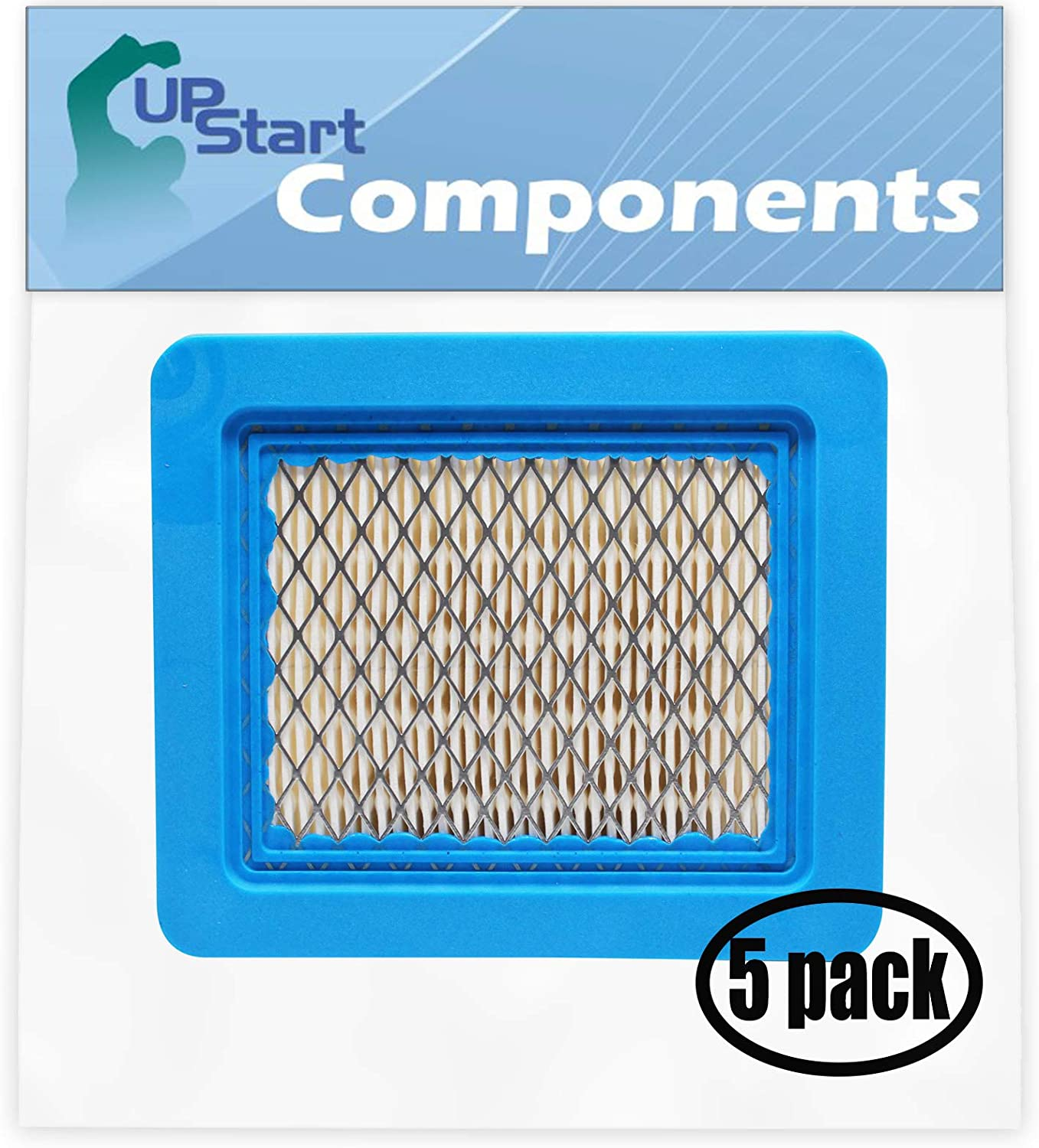 UpStart Components 5-Pack Replacement for Toro 20037 (240000001-240999999)(2004) Lawn Mower Flat Air Filter Cartridge - Compatible with Toro 119-1909 Filter