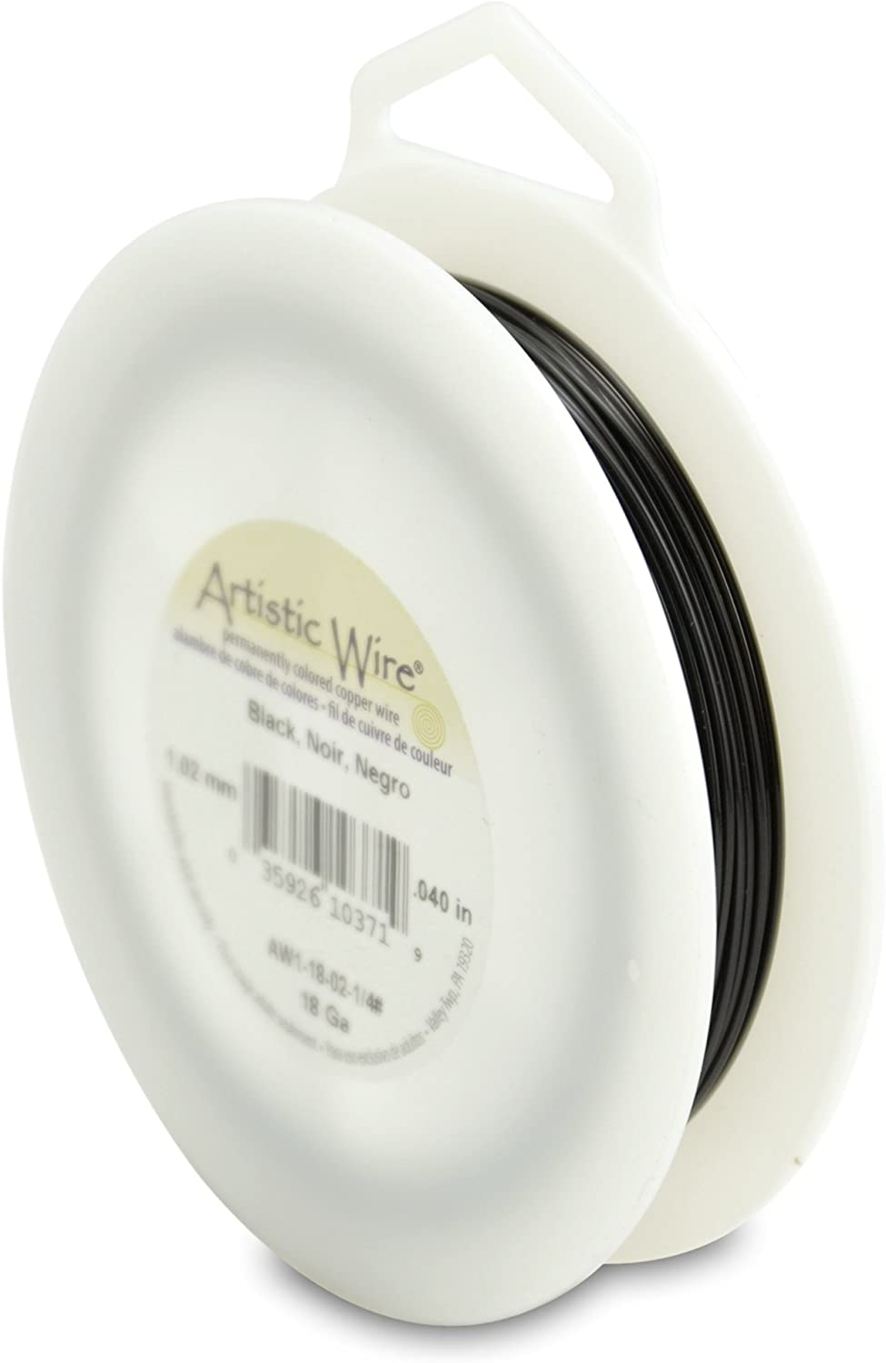 Artistic Wire, 18 Gauge, Black Color, 1/4 Pound (113 Grams) Craft Wire