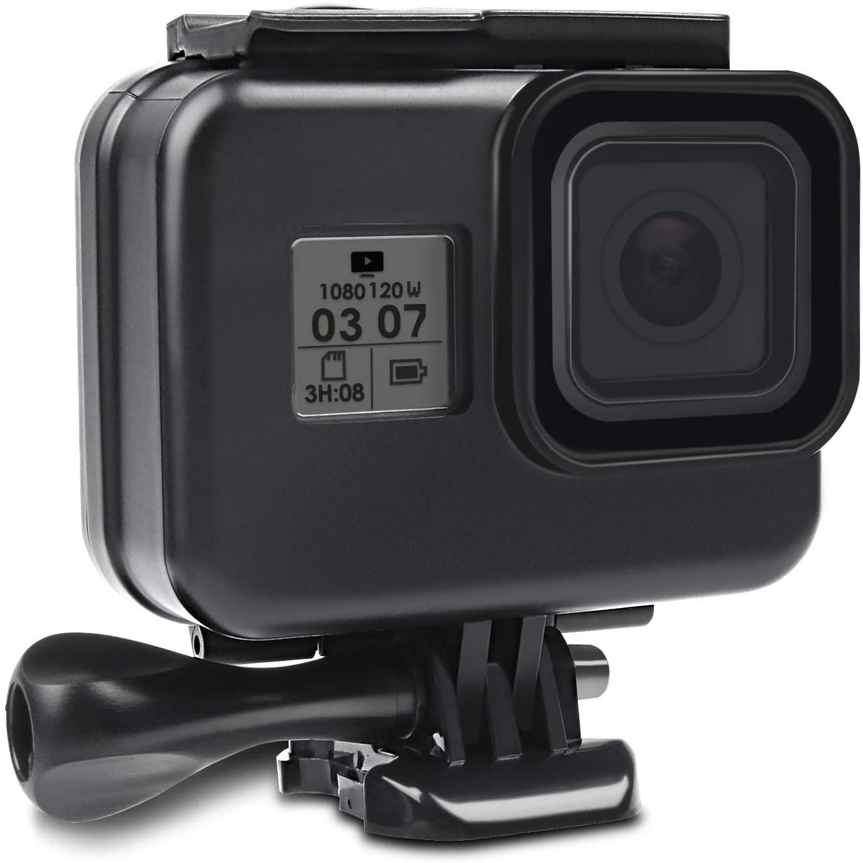 Kupton Waterproof Case for GoPro Hero 8 Black Housing Case Diving Protective Housing Shell 60 Meter for GoPro Hero 8 Black Action Camera with Bracket (Black)