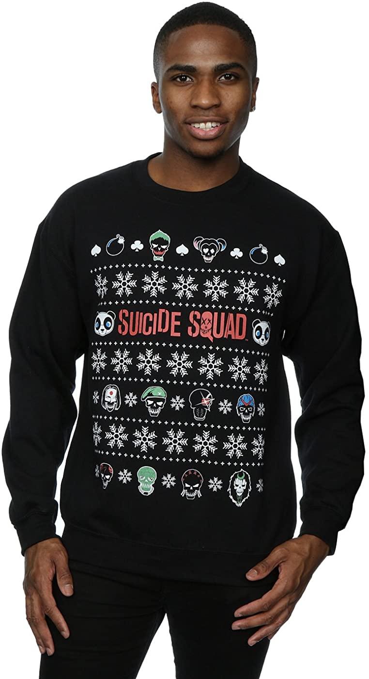 Suicide Squad Men's Characters Christmas Sweatshirt