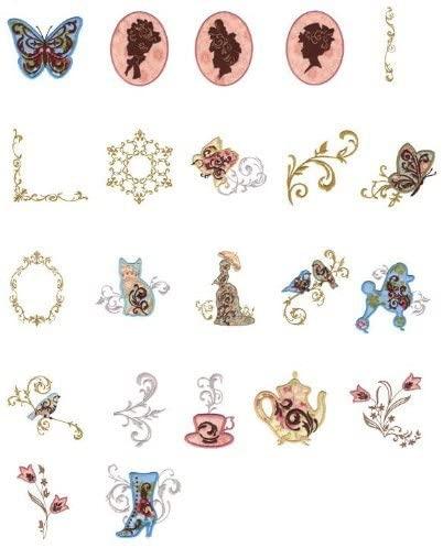 OESD Embroidery Machine Designs CD VICTORIAN FRILLS APPLIQUE