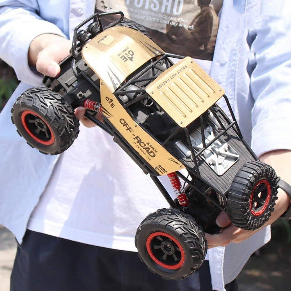 Kikioo Double Motors Remote Control Buggy Race Car 4WD 1:14 RC Car Off Road Hobby Electric Fast Truck Rock Crawler 4x4 Wheel Remote Controlled Cars Toy Vehicles Educational Toys for Adults Kids Gift