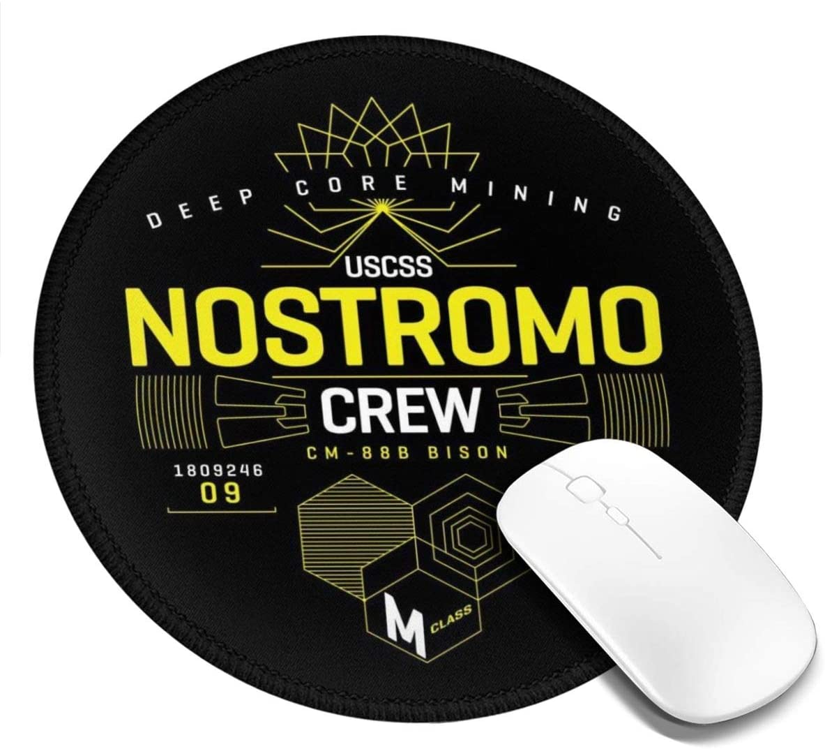 Nostromo Crew Customized Designs Non-Slip Rubber Base Gaming Mouse Pads for Mac,7.9x7.9 in, Pc, Computers. Ideal for Working Or Game