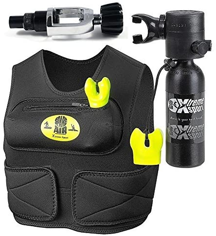 Spare Air New Xtreme Sport 1.7CF Package for Surfers & Kayakers with Fill Adapter That Allows User to Fill Directly from a Scuba Tank